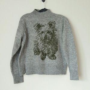 Moth Scottie Dog sweater